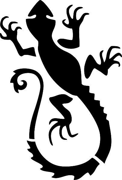 Tattoo-Template Salamander - Bodystamp Shop