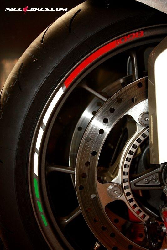 Felgenrand Moto GP Ducati 1098 Tricolor