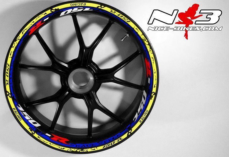RACE Style Suzuki GSXR 750 blaumetallic neongelb