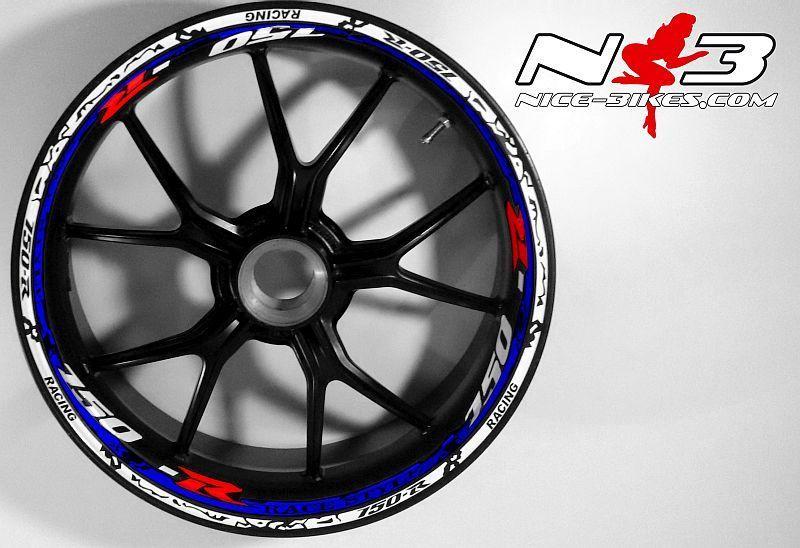 RACE Style Suzuki GSXR 750 weiß blau