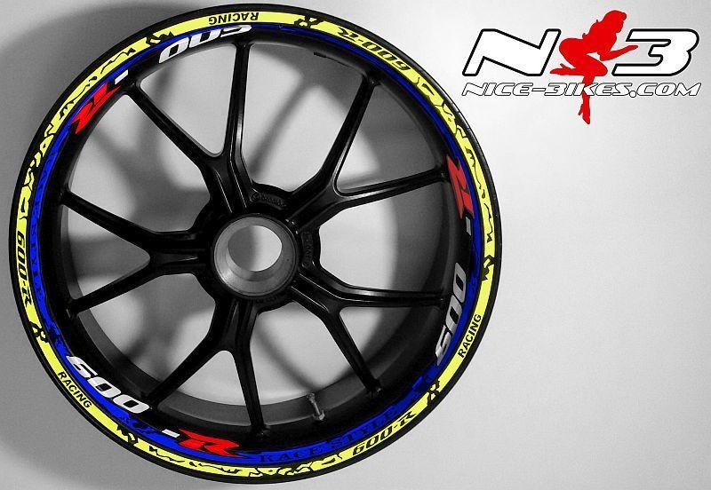 RACE Style Suzuki GSXR 600 blaumetallic neongelb