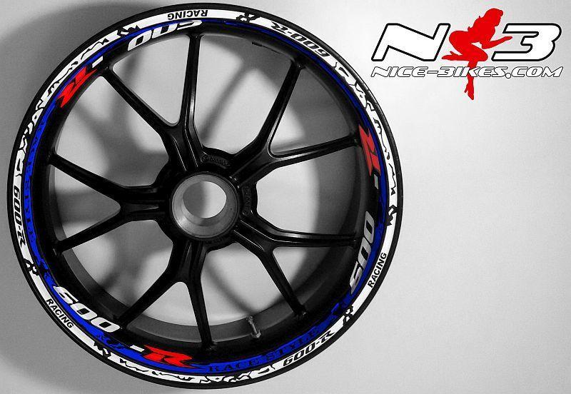 RACE Style Suzuki GSXR 600 weis blau