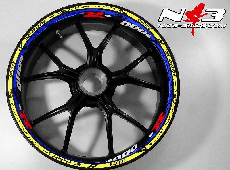 RACE Style Suzuki GSXR 1000  blaumetallic neongelb