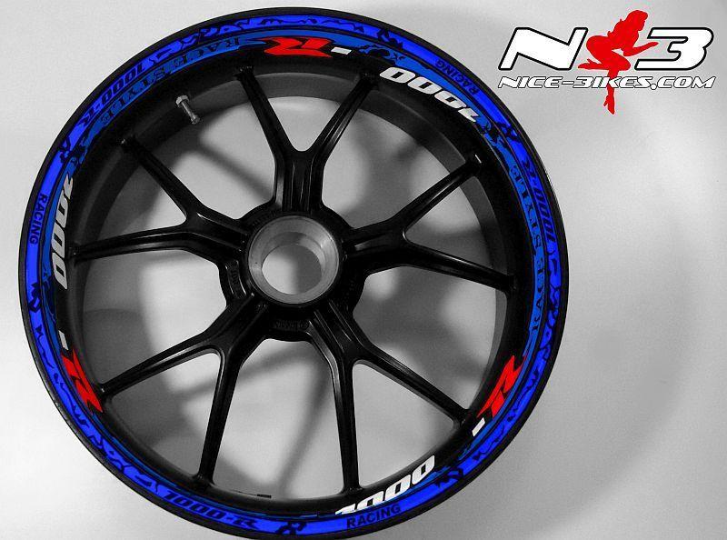 RACE Style Suzuki GSXR 1000 blau rot