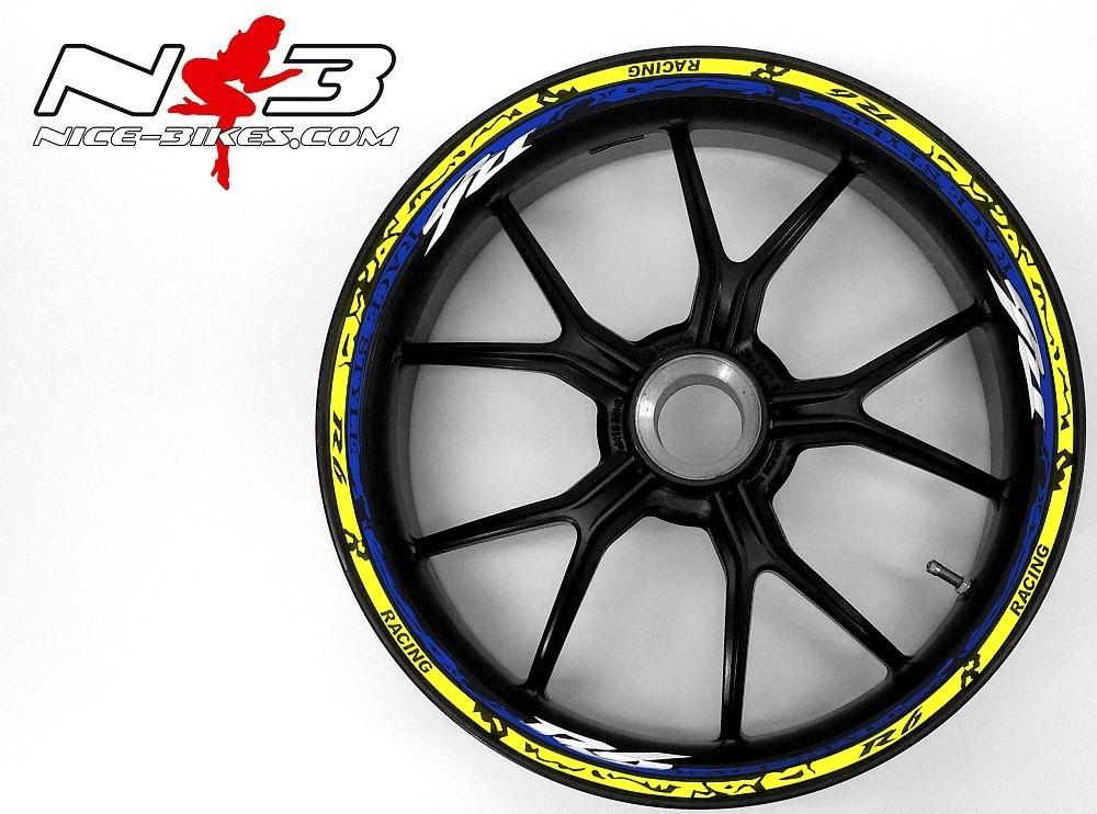 Race Style Yamaha R6 blaumetallic neongelb
