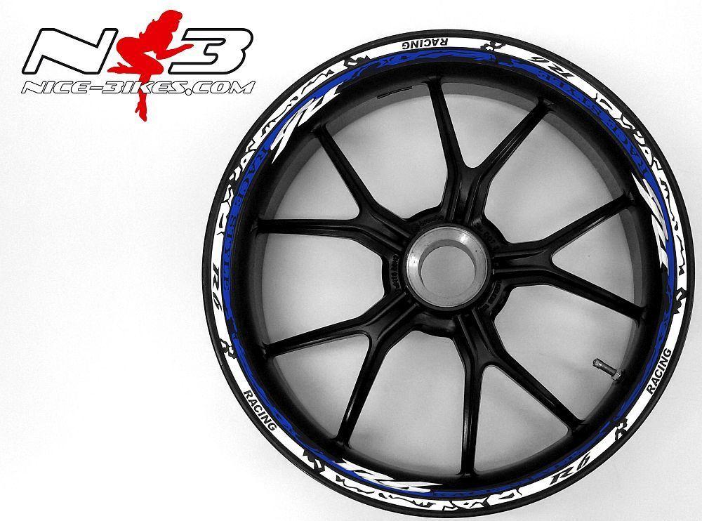 Race Style Yamaha R6 weiß blau