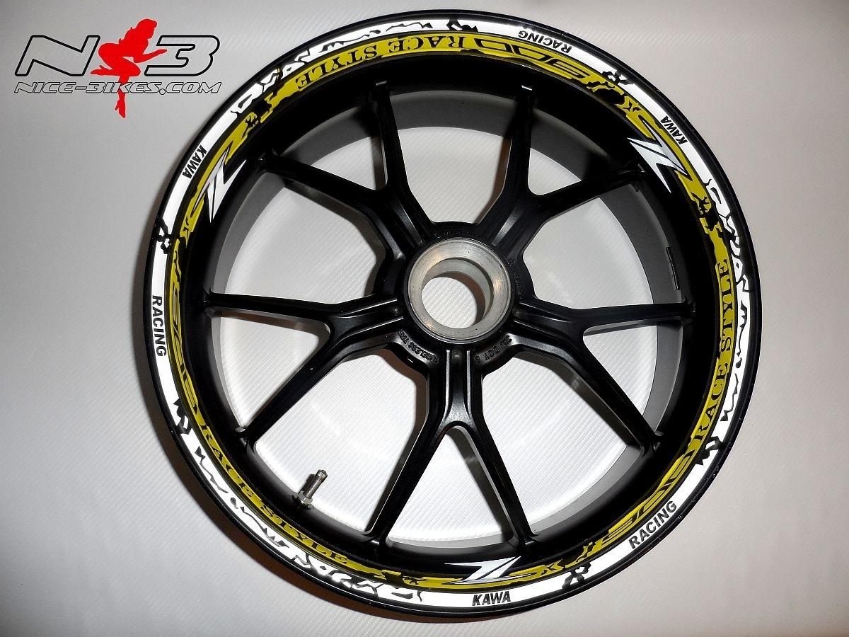 RACE STYLE Z900 gelb/weiß