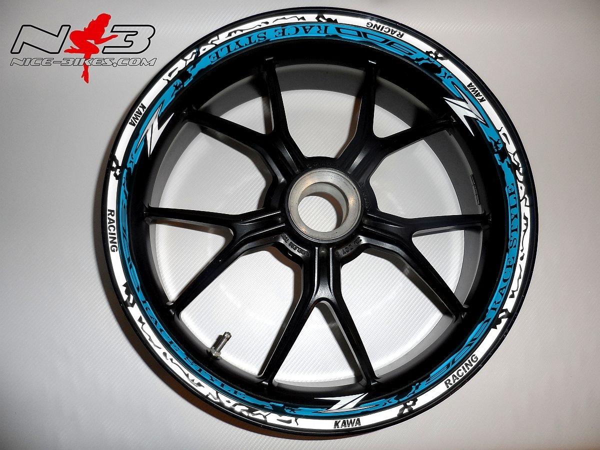 RACE STYLE Z900 hellblau/weiß