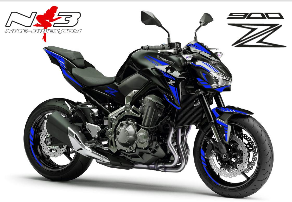 Z900 schwarz / Foliendekor blau 2018
