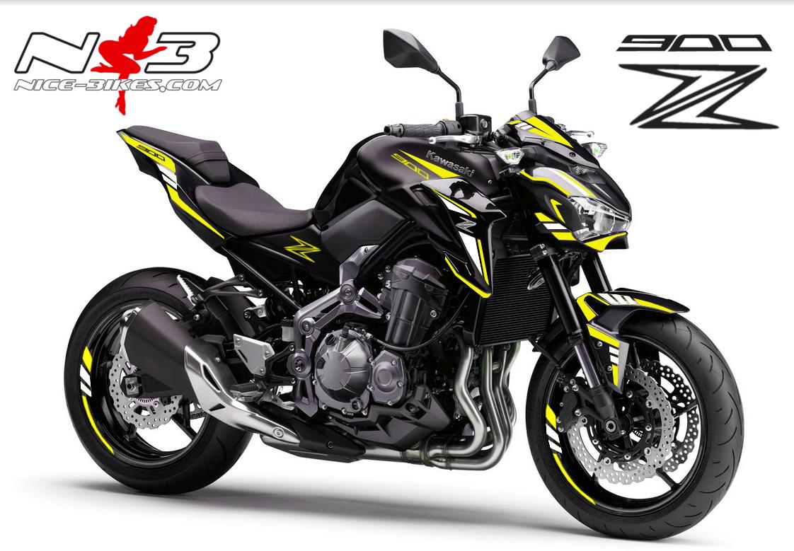 Z900 schwarz / Foliendekor gelb/weiß 2018