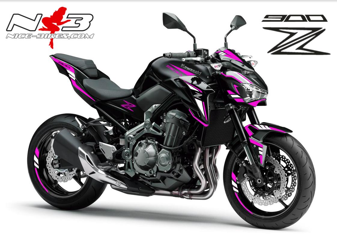 Z900 schwarz / Foliendekor pink-weiß 2018