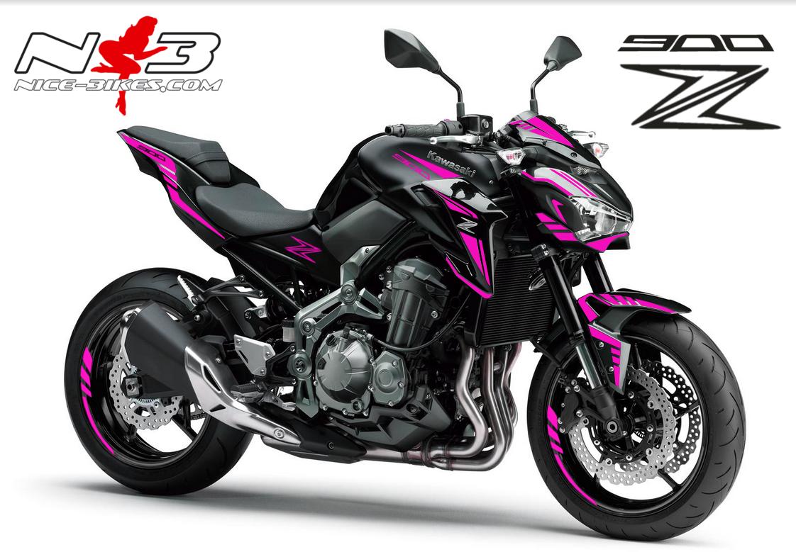 Z900 schwarz / Foliendekor pink 2018
