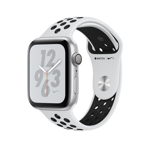Apple Watch Series 4 Nike 40mm Silber, Band Platin/Schwarz