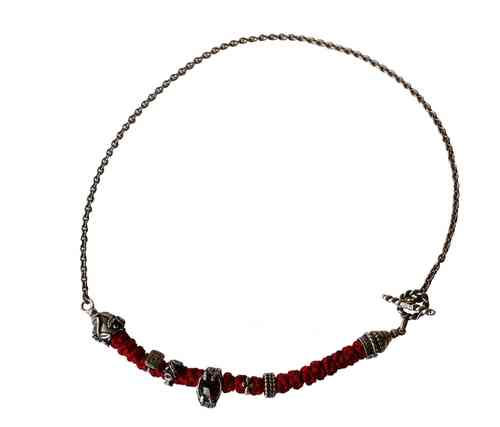 Kette Royal Monogramm red