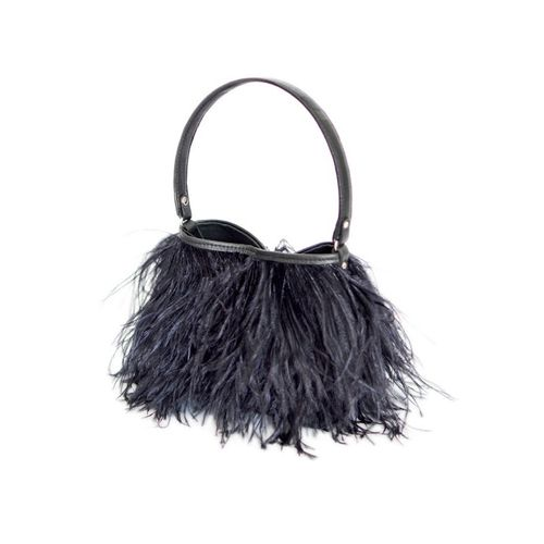Rarity Handbag,Federhandtasche,Yumi Feather black