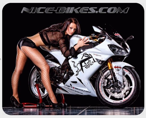 NICE-BIKES Mousepad Girl