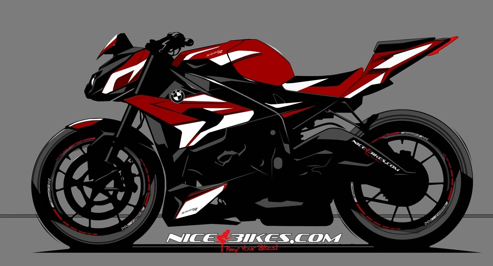 dekorsatz s1000r edition wei f r rote maschine nice bikes shop. Black Bedroom Furniture Sets. Home Design Ideas