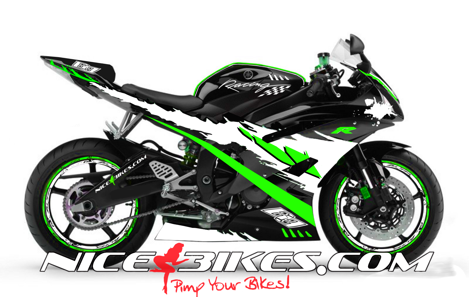 RACE Design R6 Limegreen