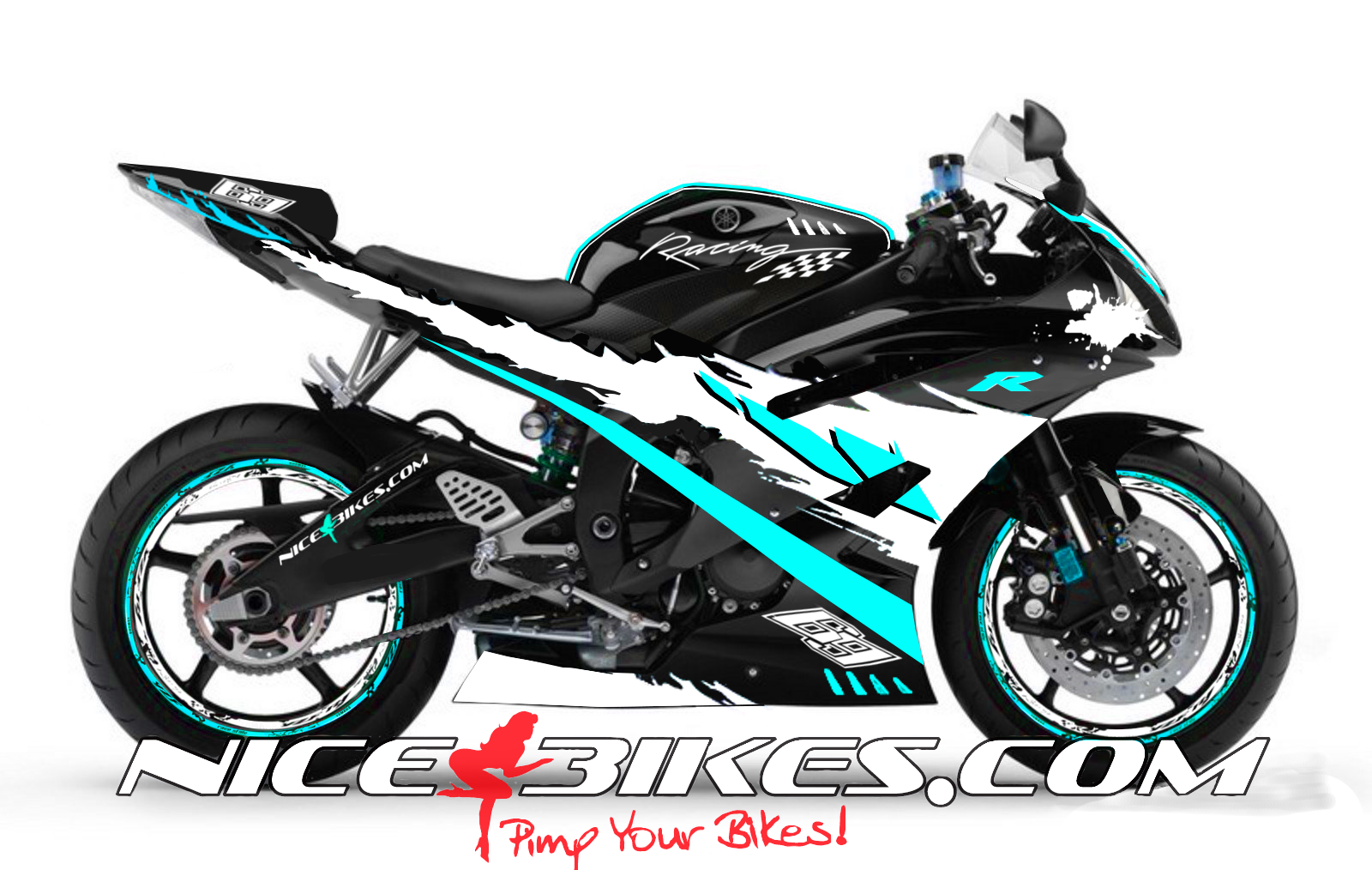 RACE Design R6 Hellblau
