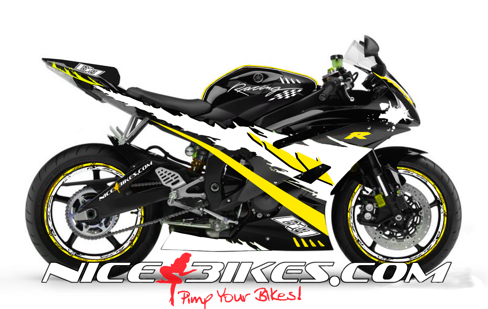RACE Design R6 Gelb