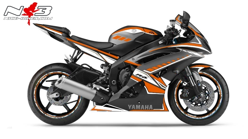R6 Dekor NEED FOR SPEED orange
