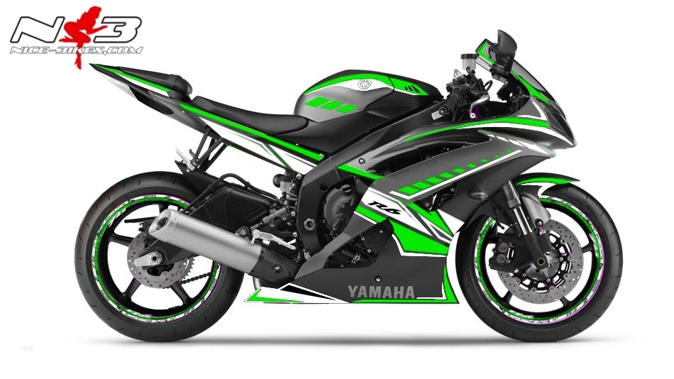 R6 Dekor NEED FOR SPEED limegreen
