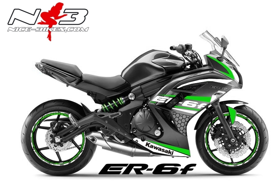 ER6F Race Style limgreen