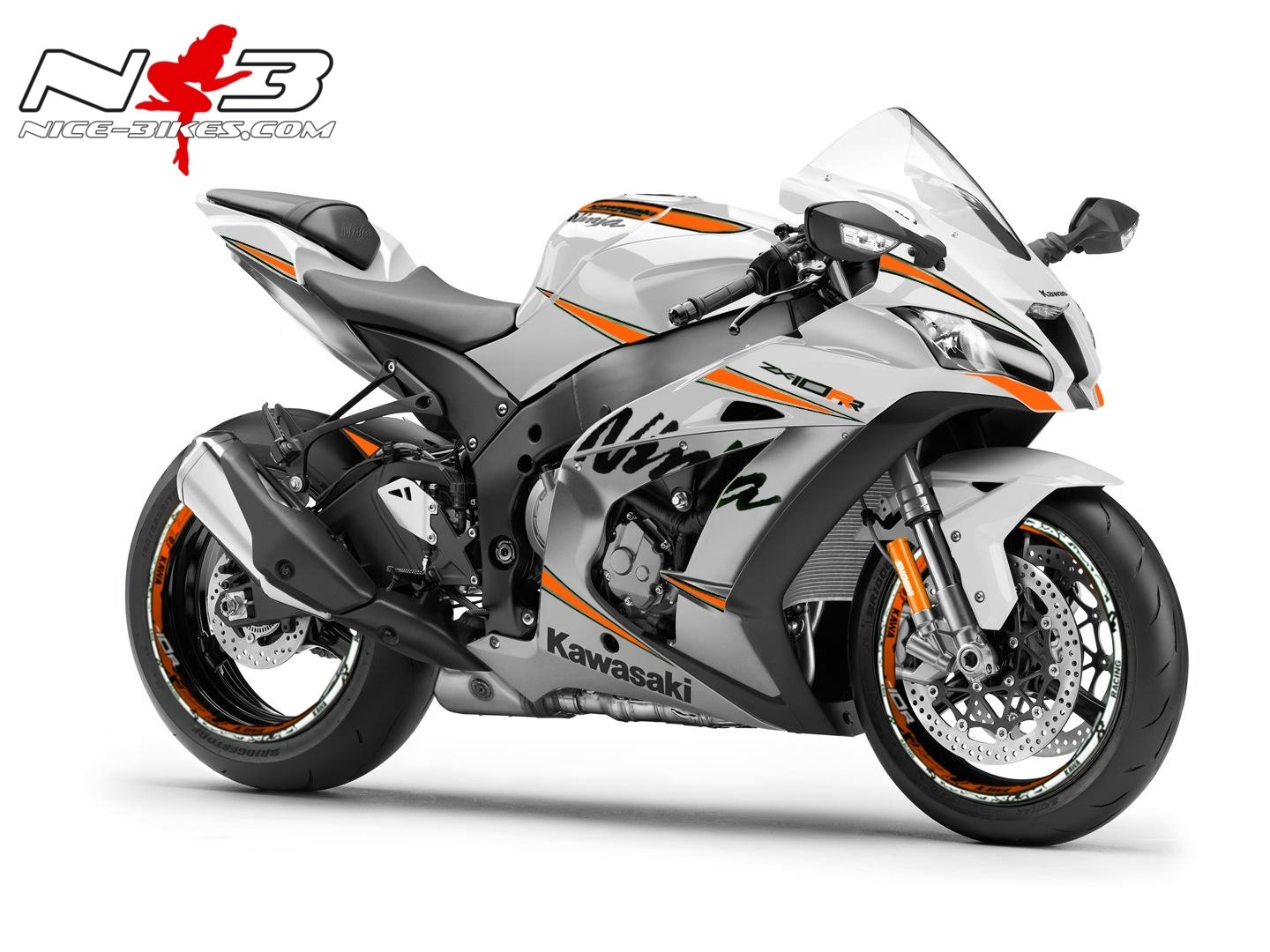 ___ ZX-10R Ninja ___ GET-CLOSER Orange auf weißer Maschine 2017