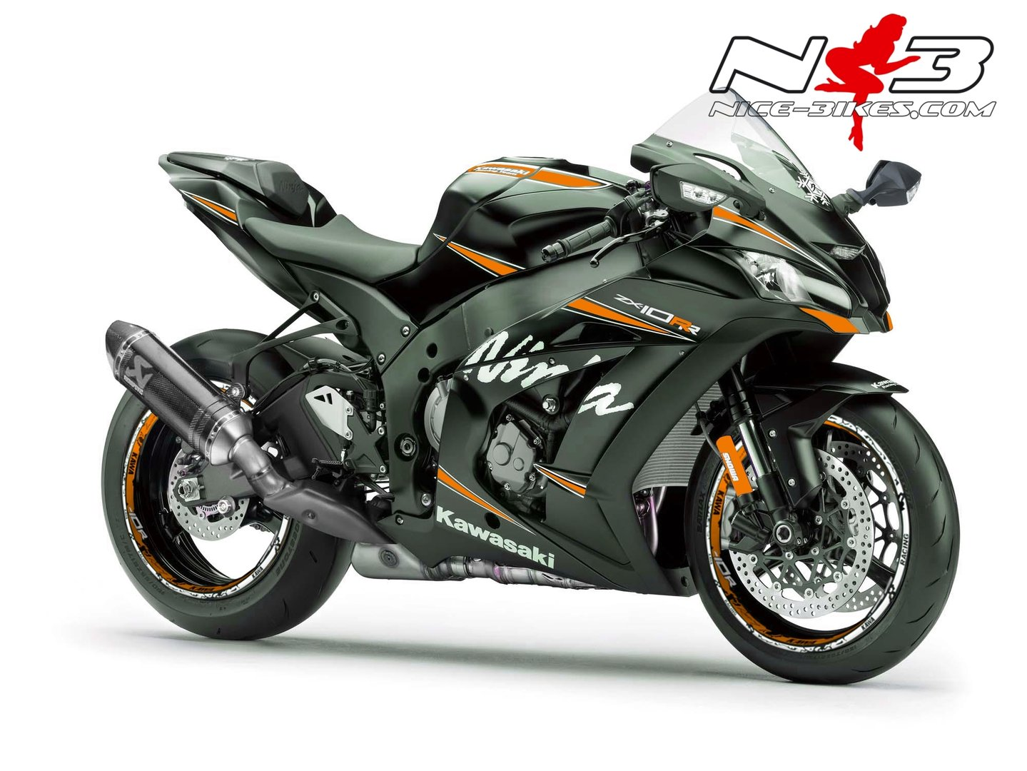 ___ ZX-10RR Ninja ___ GET-CLOSER Orange auf schwarzer Maschine 2017