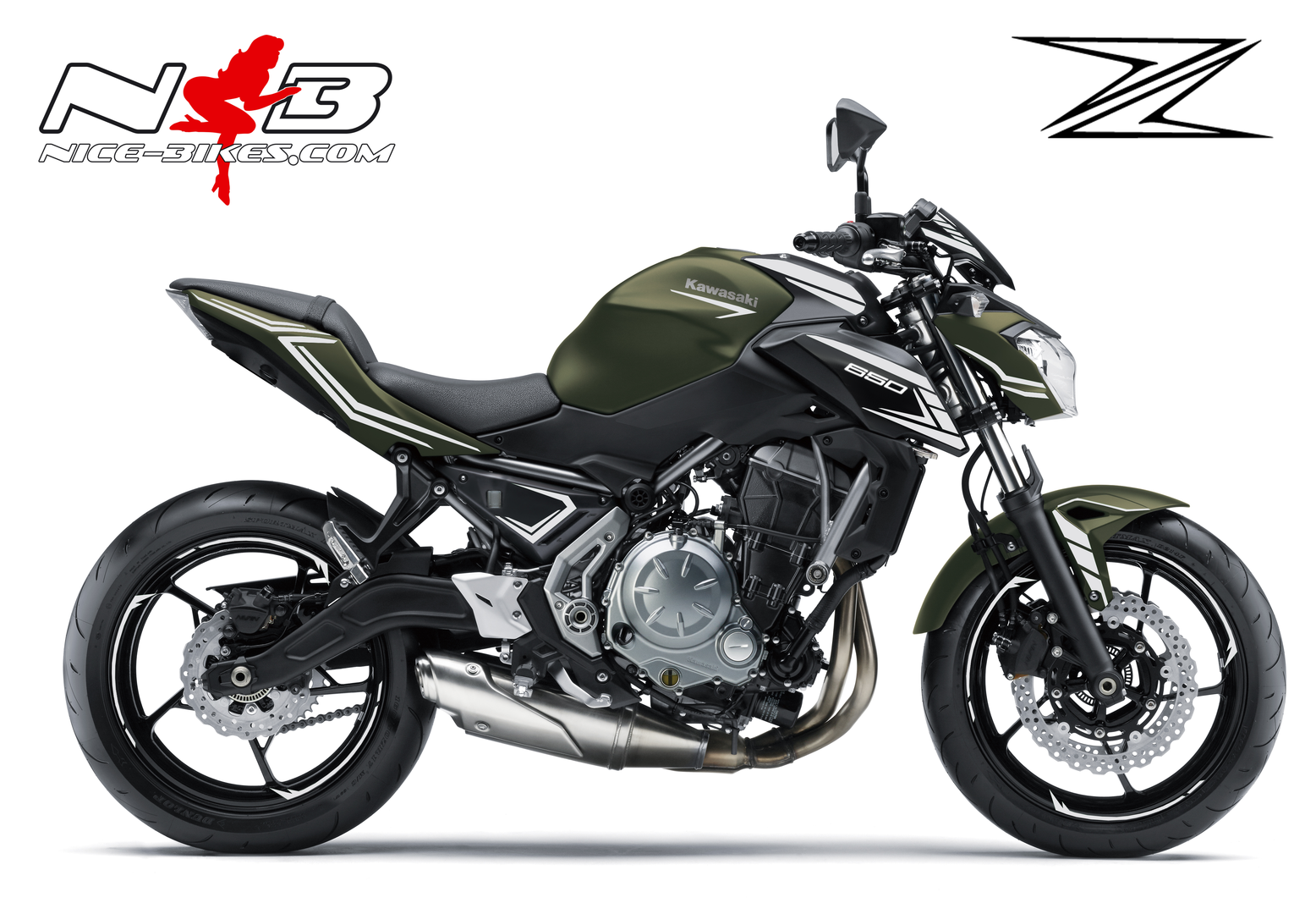 Z650 Dekor in Silbersee Metallic für Metallic Matte Covert Green / Flat Spark