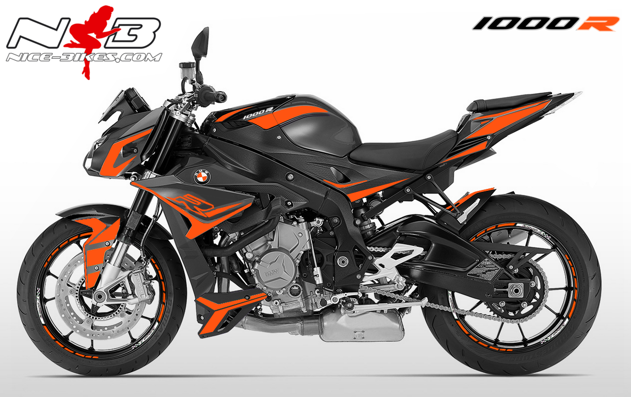 Dekorsatz S1000R EDITION orange für Catalanograue Maschine 2018-