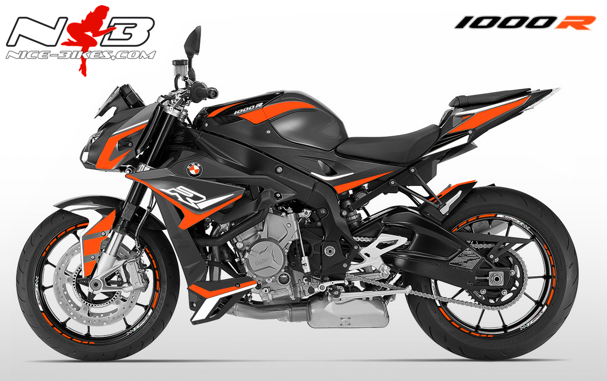 Dekorsatz S1000R EDITION orange/weiß für Catalanograue Maschine 2018-