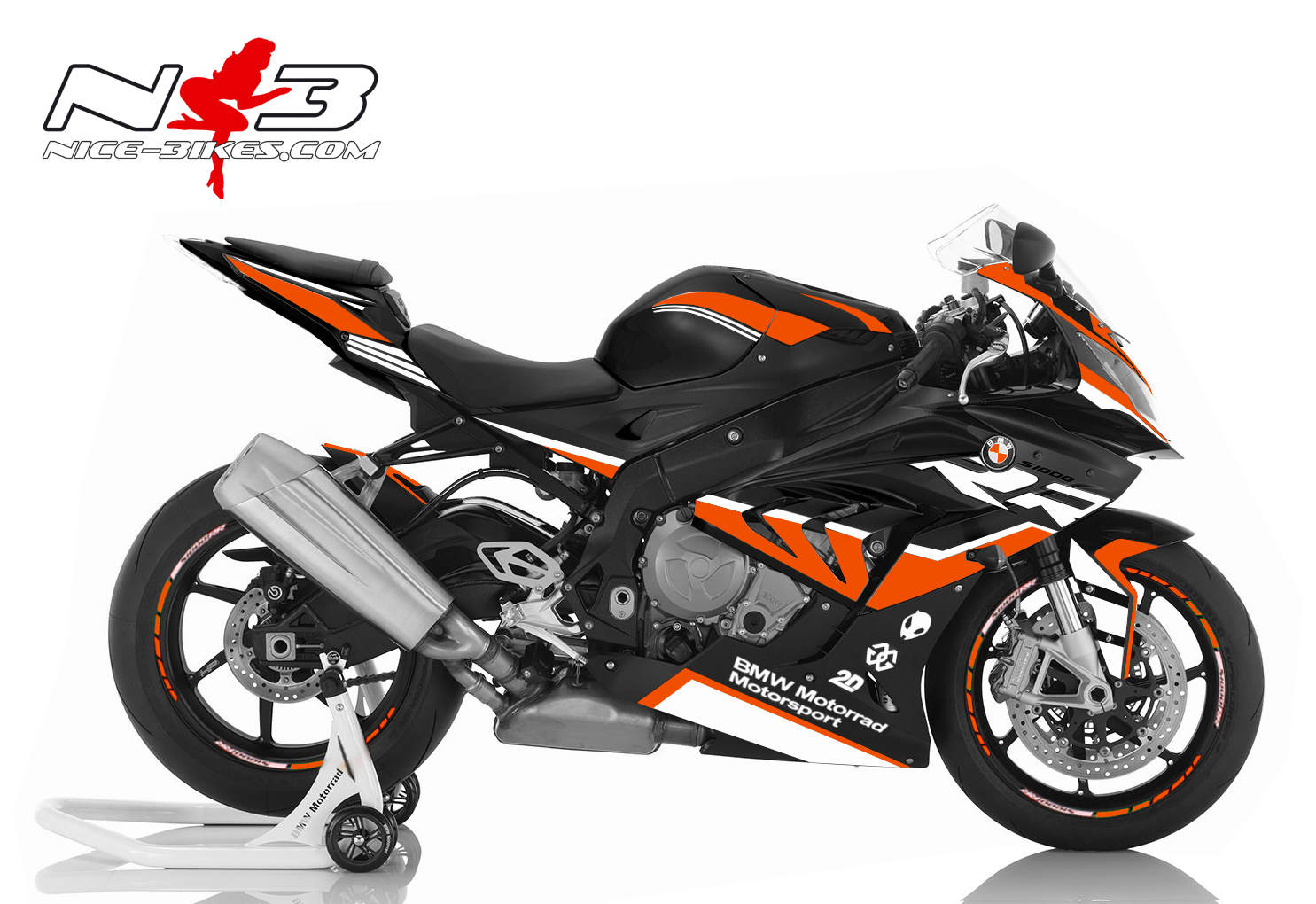 Dekorsatz S1000RR EDITION orange für schwarze Maschine 2018
