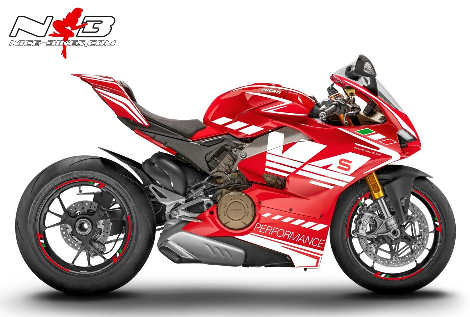 Panigale V4S weiß-tricolor