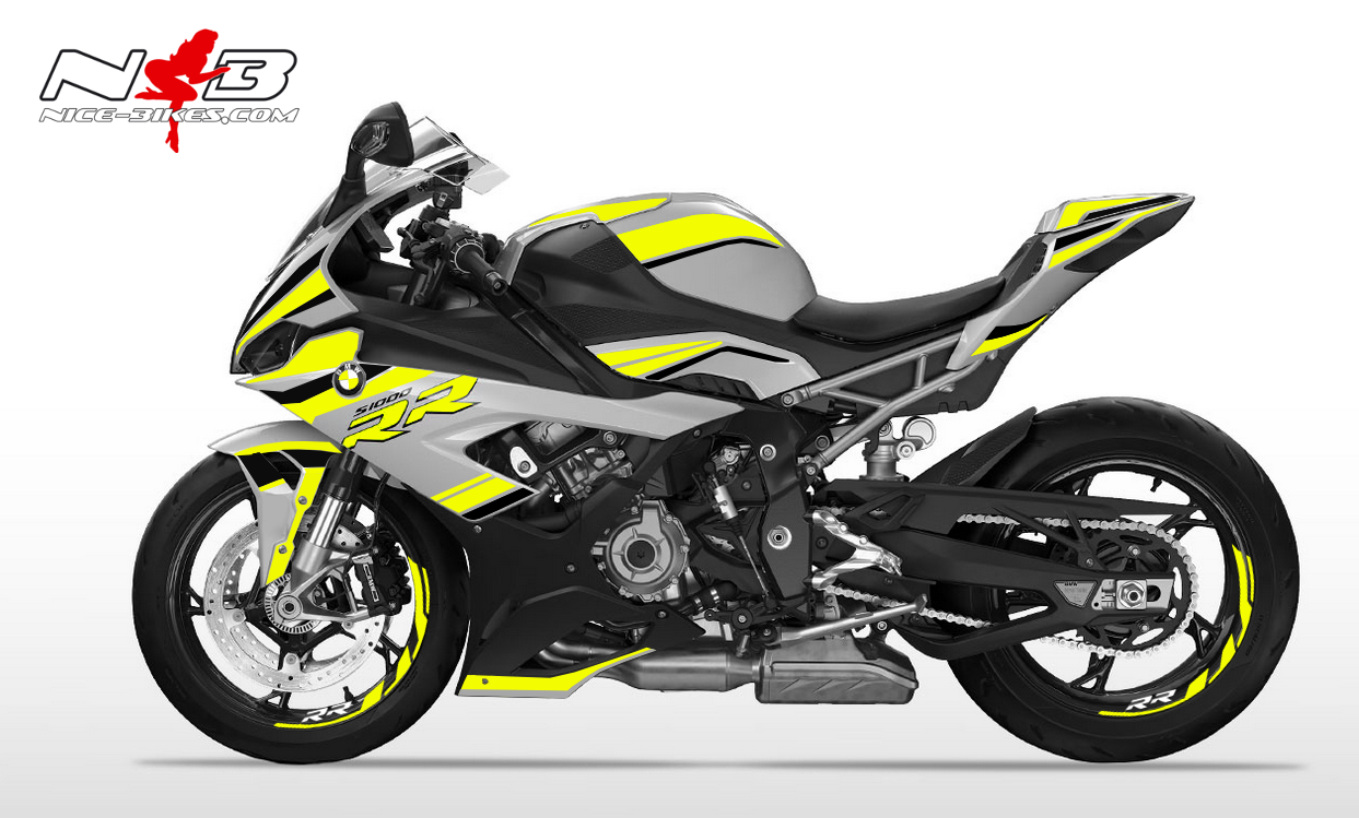 Foliendesign S1000RR (Bj. 2020) Hornet Yellow