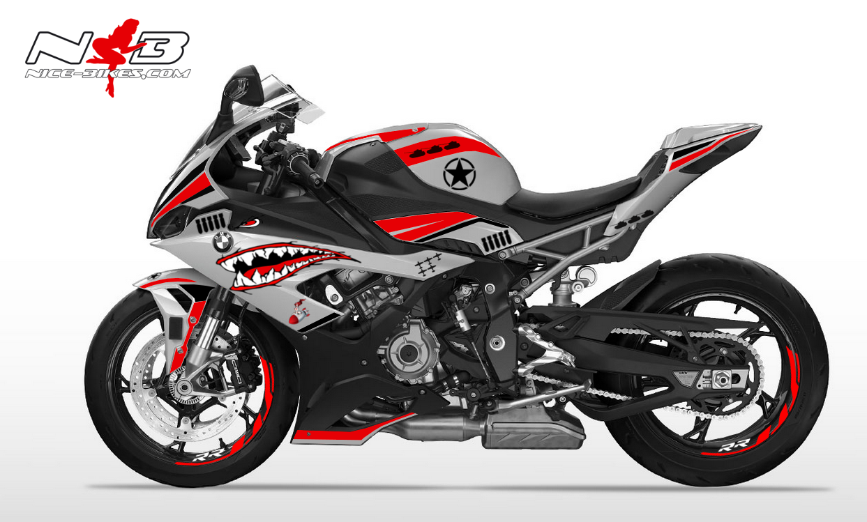 Foliendesign S1000RR (Bj. 2020) Nose Art Red
