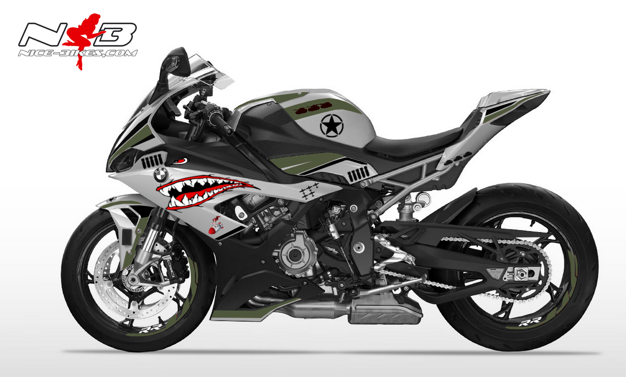 Foliendesign S1000RR (Bj. 2020) Nose Art Army