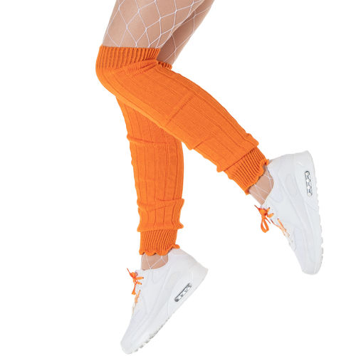 Strickstulpen, unisex, orange
