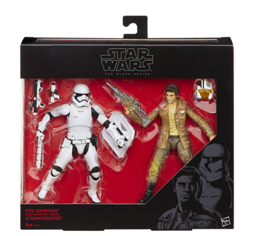 POE DAMERON & FIRST ORDER RIOT CONTROL STORMTROOPER / EXCLUSIV