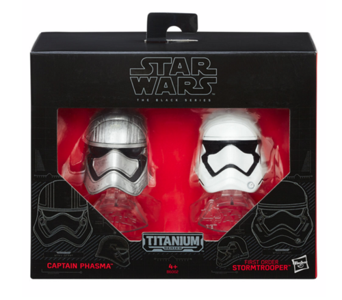 TITANIUM HELME CAPTAIN PHASMA + FIRST ORDER STORMTROOPER