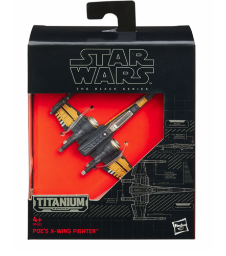 BLACK SERIES TITANIUM POE'S X-WING FIGHTER