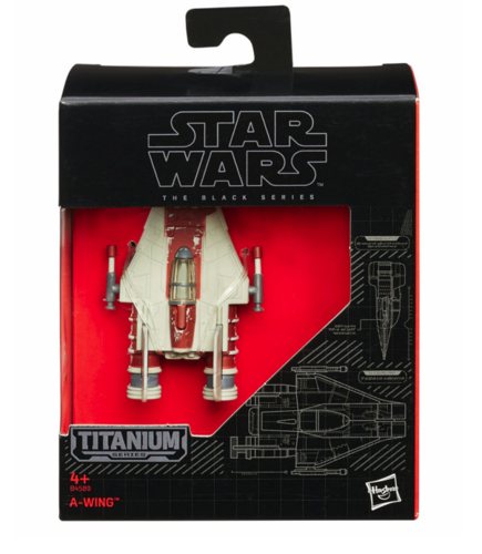 BLACK SERIES TITANIUM A-WING FIGHTER