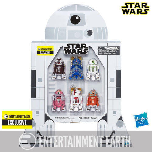 "ASTROMECH DROID 6-PACK 3,75"" / ENTERTAINMENT EARTH EXCLUSIVE / SDCC"