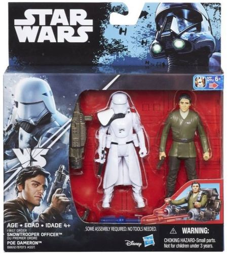 FIRST ORDER SNOWTROOPER OFFICER & POE DAMERON