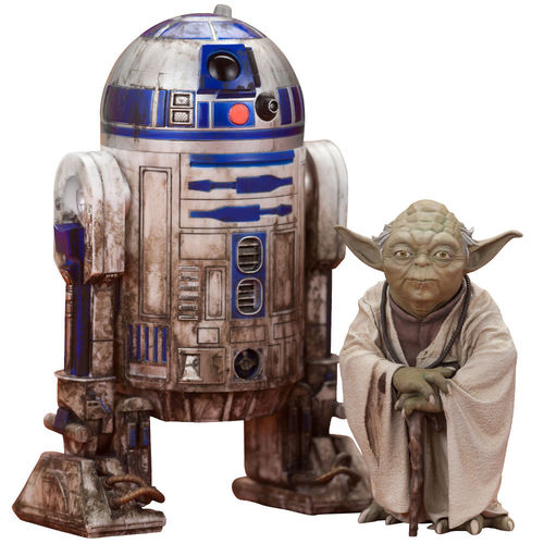 KOTOBUKIYA YODA & R2-D2 DAGOBAH VERSION + YODA FORCE SPIRIT  ARTFX+  1/10