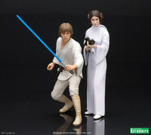 KOTOBUKIYA LUKE SKYWALKER & PRINCESS LEIA 2-PACK  ARTFX+  1/10