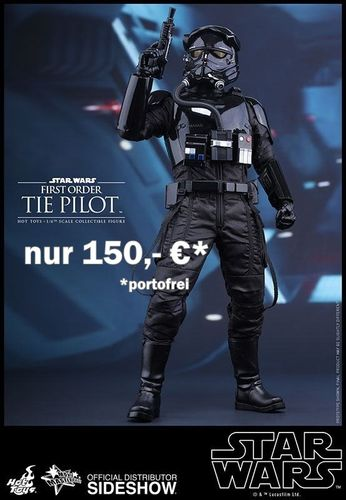 HOT TOYS STAR WARS FIRST ORDER TIE PILOT 1:6 SCALE