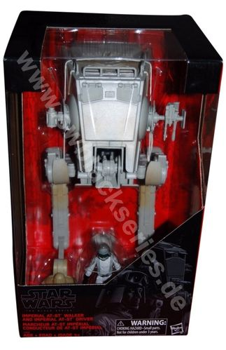 "BLACK SERIES IMPERIAL AT-ST WALKER WITH DRIVER / WALMART EXCLUSIVE / 3,75"" SCALE"