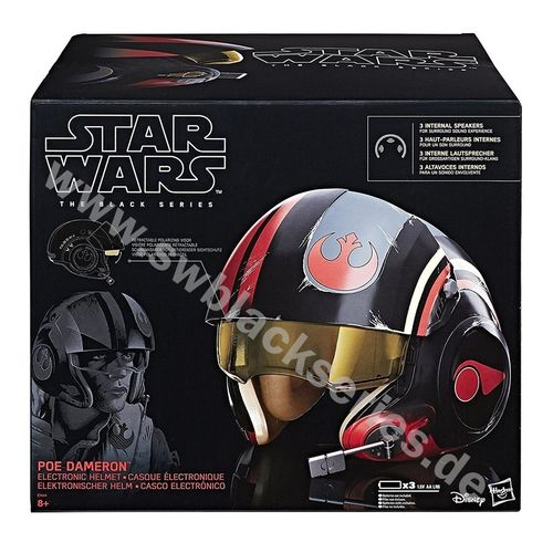 BLACK SERIES POE DAMERON ELECTRONIC HELMET 1:1