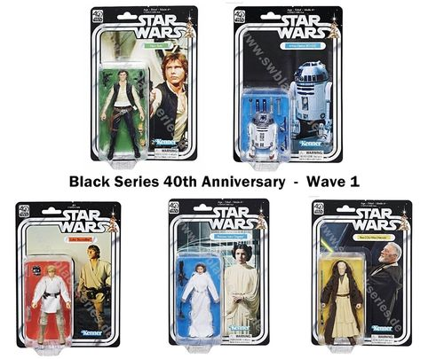 "BLACK SERIES 40th ANNIVERSARY 6"" WAVE 1 / CLOSED CASE ( 29,90 € PRO FIGUR)"